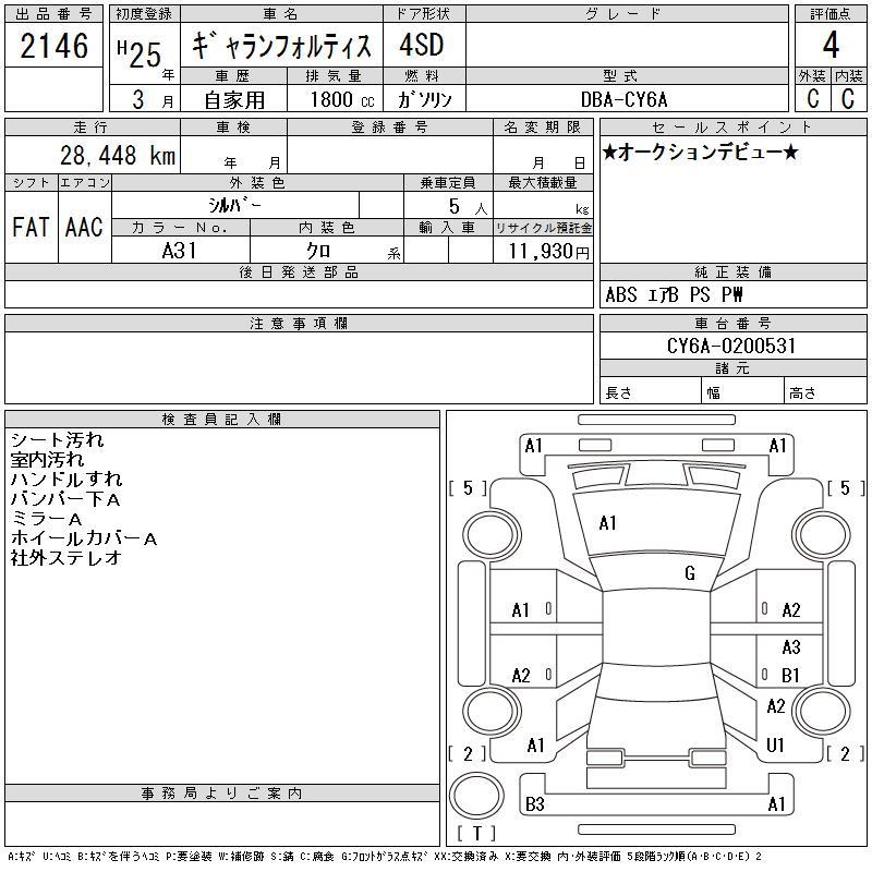 Mitsubishi Galant Fortis 2013